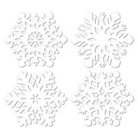 """Club Pack of 24 Die-Cut Snowflake Christmas Party Cutout Decorations 14.5"""" - White"""