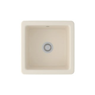 """Rohl RC1818  Shaws 18-1/8"""" Drop In or Undermount Single Basin Fireclay Kitchen Sink"""