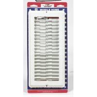 """Us Hardware V-103WB Floor Register, 4"""" x 10"""", White"""