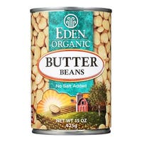 Eden Foods Butter Beans Organic - Case of 12 - 15 oz.
