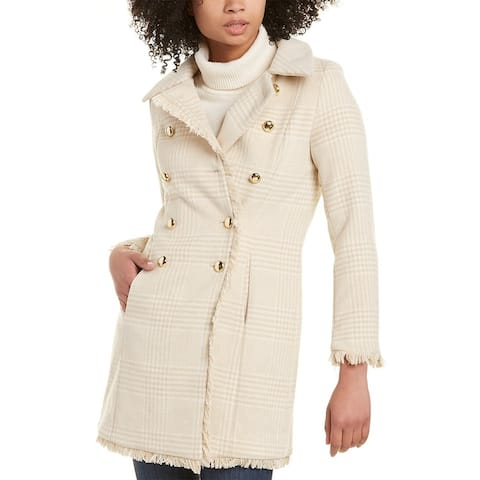 Sail To Sable Double-Breasted Wool-Blend Coat