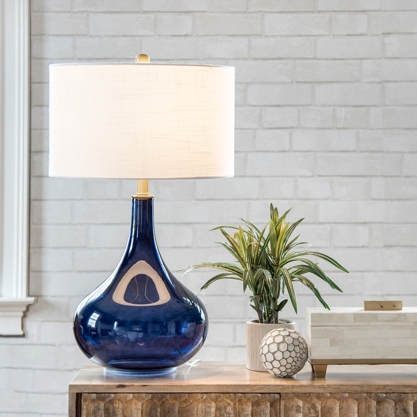 "nuLOOM Farrell 26"" Glass Table Lamp. Opens flyout."