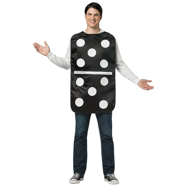 Adult Domino Halloween Costume - standard - one size