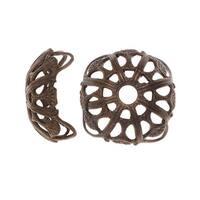 Vintaj Natural Brass, Dapped Filigree Bead Caps 13mm, 2 Pieces