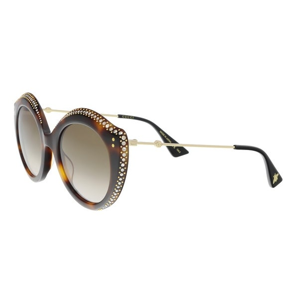 621b314d6fc4 Shop Gucci GG0214S-003 Havana Cat Eye Sunglasses - 52-22-145 - Ships ...