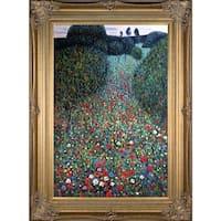 Gustav Klimt 'Poppy Field' Hand Painted Oil Reproduction
