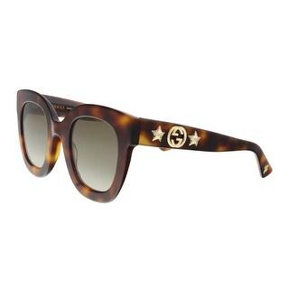 Gucci GG0208S-003 Havana Marble Square Sunglasses - 48-28-140
