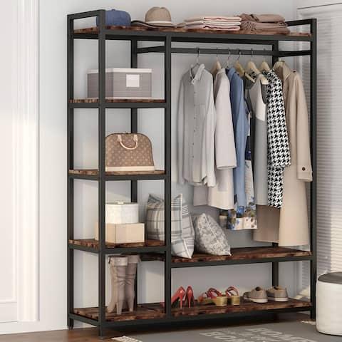 Freestanding Closet Organizer with Shelves