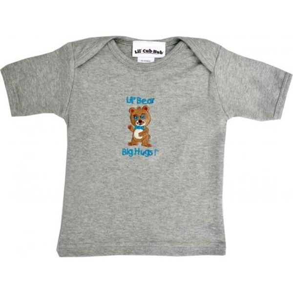 4CSSTBBG-1218 Grey Short Sleeve T-Shirt - Boy Bear, 12-18 months