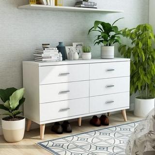 Link to Carson Carrington Gjovik Modern White 6-drawer Dresser Similar Items in Dressers & Chests