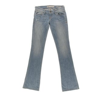 Guess Womens Distressed Ultra-Low Bootcut Jeans - 27