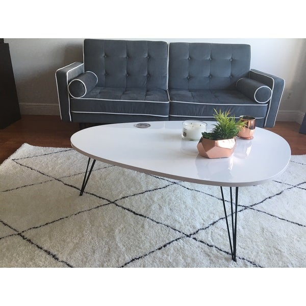 Shop Safavieh Mid Century Wynton White/ Black Lacquer Modern Coffee Table    On Sale   Free Shipping Today   Overstock.com   9048901