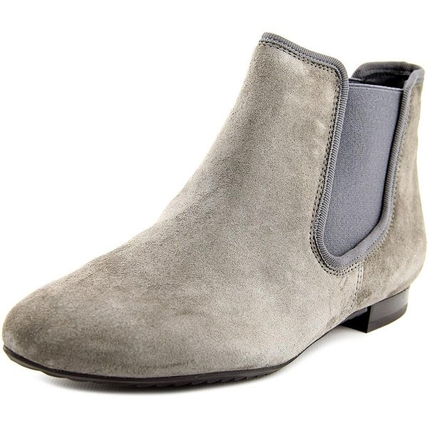 Paul Green Danni Women Round Toe Suede Gray Ankle Boot