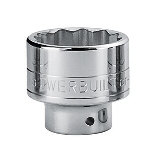 Powerbuilt 1-Inch Drive 12 Point SAE Socket 3-1/8-Inch, Chrome-Vanadium