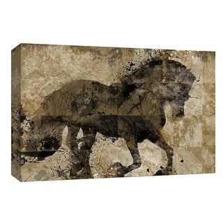 "PTM Images 9-148045  PTM Canvas Collection 8"" x 10"" - ""Midnight Stallion"" Giclee Horses Art Print on Canvas"