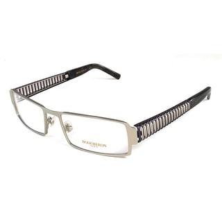 Boucheron Unisex Semi-Rectangle Full-Rimmed Eyeglasses Purple/Gold - Black - S