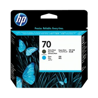 Hewlett Packard C9404A HP 70 Matte Black and Cyan Printhead - Black, Cyan - Inkj