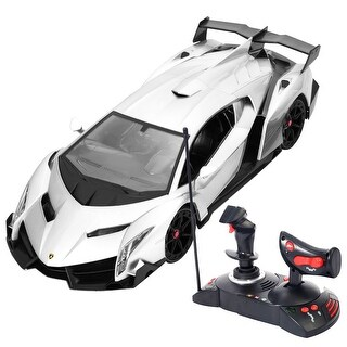 Costway 1/14 Lamborghini Veneno Electric Sport Radio Remote Control RC Car Gray Kids Toy