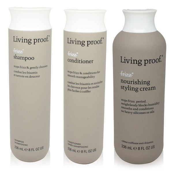 Living Proof No Frizz 3 Item Value Pack Shampoo Conditioner Styling Cream