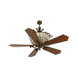 """Craftmade K10881 Cortana 56"""" 5 Blade DC Indoor Ceiling Fan - Blades and Remote Included"""