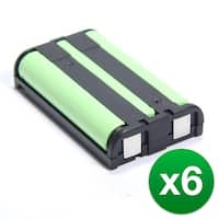 Replacement Battery For Panasonic KX-TG2480  Cordless Phones - P104 (850mAh, 3.6V, Ni-MH) - 6 Pack