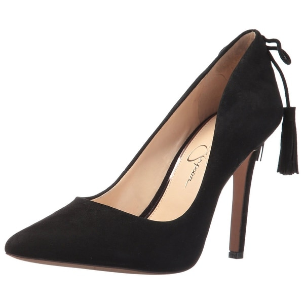 Jessica Simpson Womens Centella Leather Pointed Toe Ankle Strap Classic Pumps