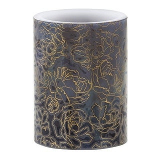 "Link to 5"" Gold, Royal Blue And White LED Candle With Floral Graphics Similar Items in Decorative Accessories"