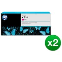 HP 771A 775-ml Magenta DesignJet Ink Cartridge (B6Y17A) (2-Pack)