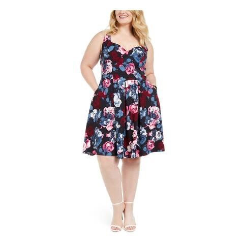 TRIXXI Navy Sleeveless Knee Length Dress 24W