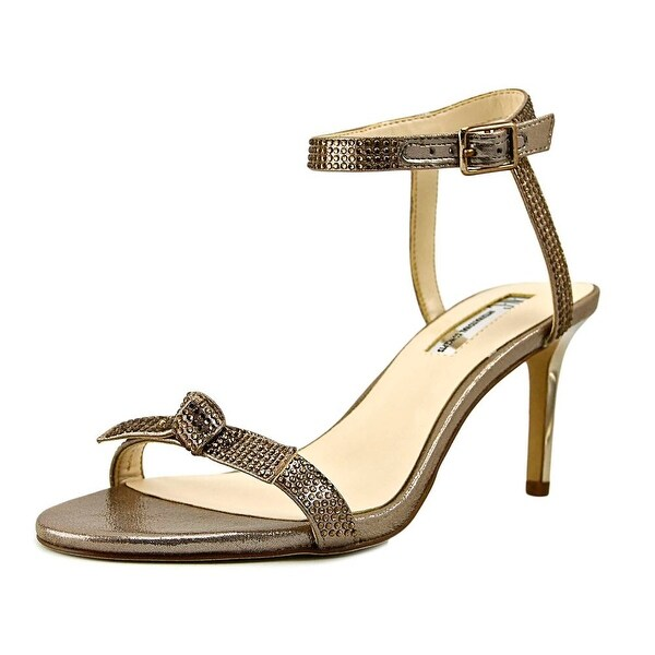 INC International Concepts Laniah Women Open Toe Canvas Gold Sandals