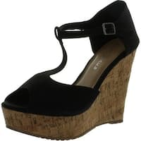 Fashion Focus Womens Joan-1 Wedge Sandals