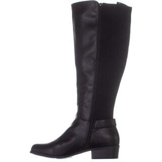 Alfani Womens Kallumm Almond Toe Knee High Fashion Boots