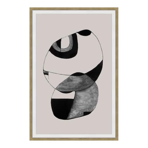 Aurelle Home Modern Abstract Black Ink Wall Decor