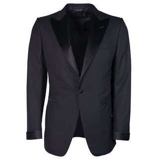 Tom Ford Men Black Wool Satin Lapel O Connor Two Piece Tuxedo - 36 r
