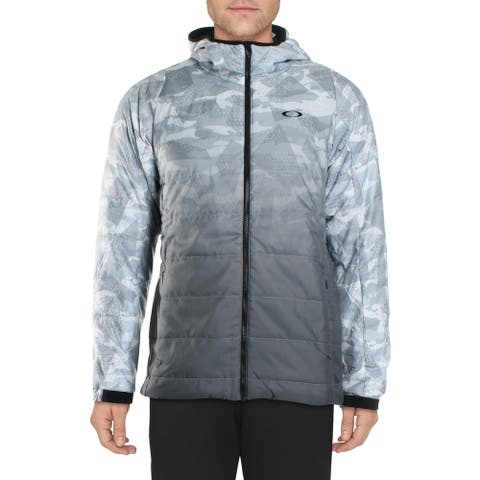 Oakley Mens Jacket Insulated Winter - White Print - XL