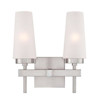 """Westinghouse 6353300 Chaddsford 2 Light 12"""" Wide Bathroom Vanity Light with Hand - Brushed nickel"""