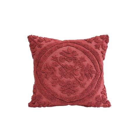 Square Cotton Woven Looped Pillow