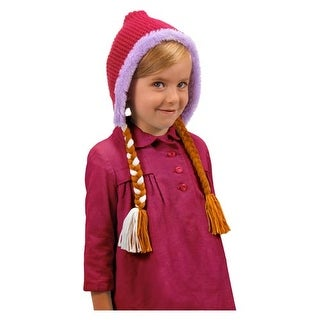 Frozen Disney Anna Laplander Child Costume Knit Hat - Pink
