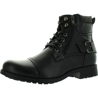 Arider Bull-01 Mens Ankle Combat Army Low-Top Causal Boots - Black