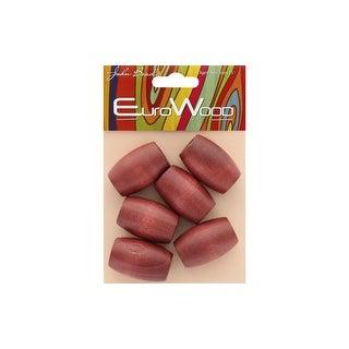 286605 05 John Bead Wood Beads Oval Lg Hole 22x33mm Mahogany