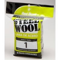 Red Devil 8 Pack NO.1 Steel Wool  0324