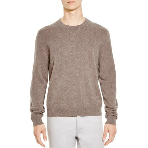 Bloomingdales Mens Cashmere Crewneck Sweater X-Large XL Toasted Almond