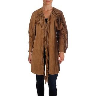 Ralph Lauren Womens Aliah Barley Suede Fringe Jacket - 12