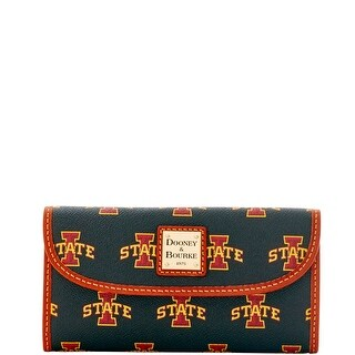 Dooney & Bourke NCAA Iowa State Continental Clutch (Introduced by Dooney & Bourke at $128 in Mar 2016) - Black