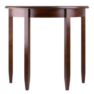 """Link to 30"""" Walnut Brown Concord Half Moon Wooden Accent Table Similar Items in Living Room Furniture"""