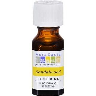Aura Cacia Precious Essentials Sandalwood Blended with Jojoba Oil - 0.5 fl oz