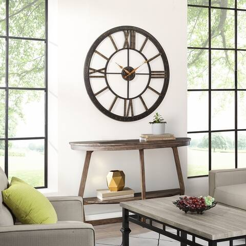 FirsTime & Co.® Big Time Wall Clock, Plastic, 40 x 2 x 40 in, American Designed - 40 x 2 x 40 in