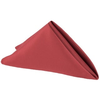 """50 Pieces, Lamour Satin Napkin Approx. 20""""x20"""" square Edge: Hemmed - Apple Red"""