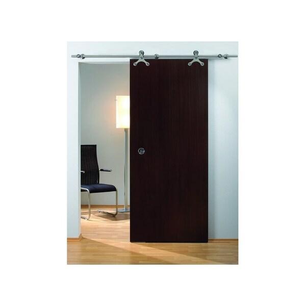 Hafele 941.07.177 Tritec Series 100 Inch Stainless Steel Barn Door Kit For  Wood