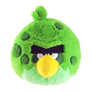 """Angry Birds 5"""" Green Space Bird Plush Officially Licensed - multi"""